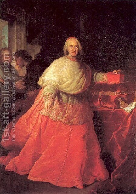 Portrait of Cardinal Carlos de Borja 1721 by Andrea Procaccini - Reproduction Oil Painting
