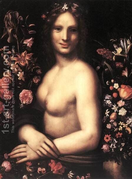Flora c. 1600 by Carlo Antonio Procaccini - Reproduction Oil Painting