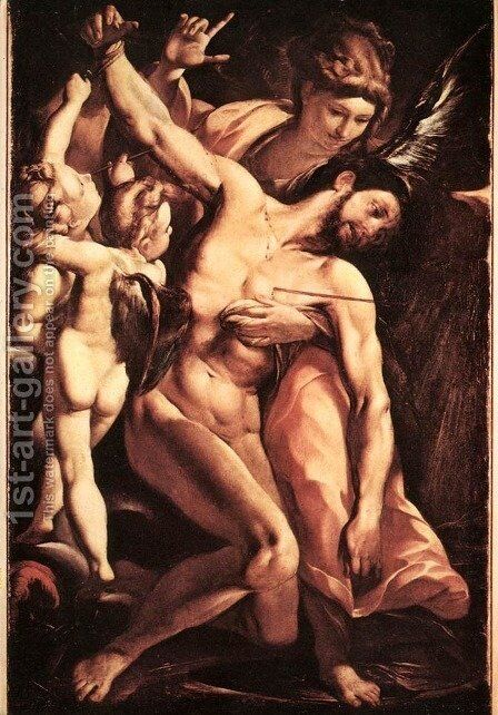 The Martyrdom of St Sebastian by Giulio Cesare Procaccini - Reproduction Oil Painting