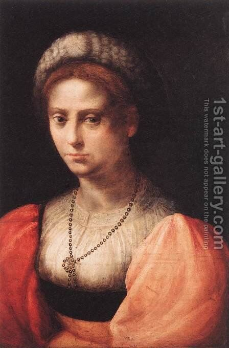 Portrait of a Lady by Domenico Puligo - Reproduction Oil Painting