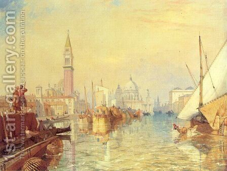 San Giorgio Maggiore, Venice by James Baker Pyne - Reproduction Oil Painting
