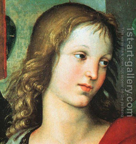 Detail from the Saint Nicholas Altarpiece 1500-01 by Raphael - Reproduction Oil Painting