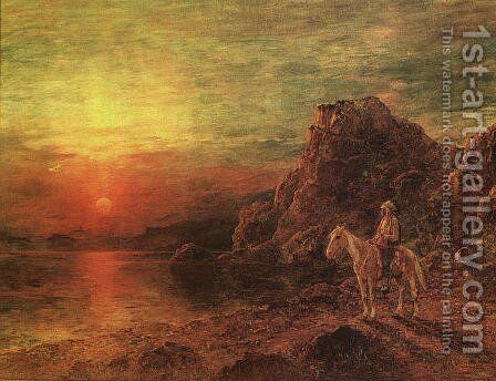 Greeting the Sun by Henry Raschen - Reproduction Oil Painting