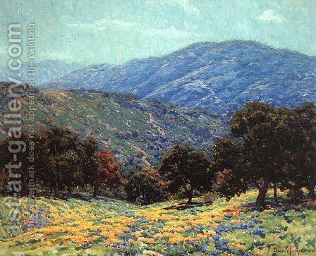 Flowers Under the Oaks by Granville Redmond - Reproduction Oil Painting