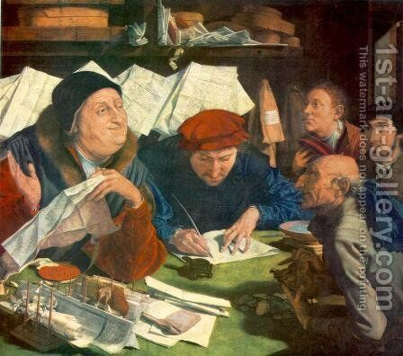 Tax Collector 1542 by Marinus van Reymerswaele - Reproduction Oil Painting