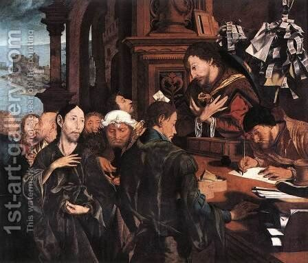 The Calling of Matthew 1536 by Marinus van Reymerswaele - Reproduction Oil Painting