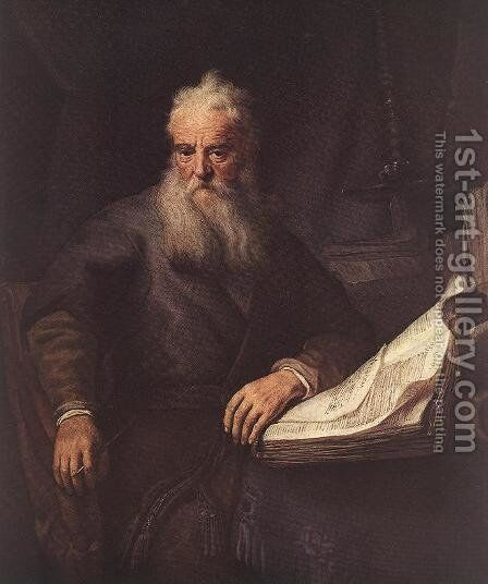 Apostle Paul 1635 by Rembrandt - Reproduction Oil Painting