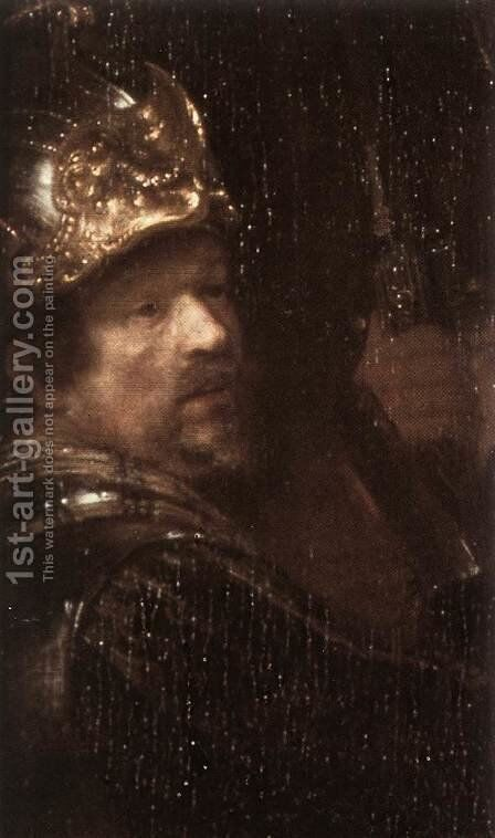 The Nightwatch (detail-3) 1642 by Rembrandt - Reproduction Oil Painting