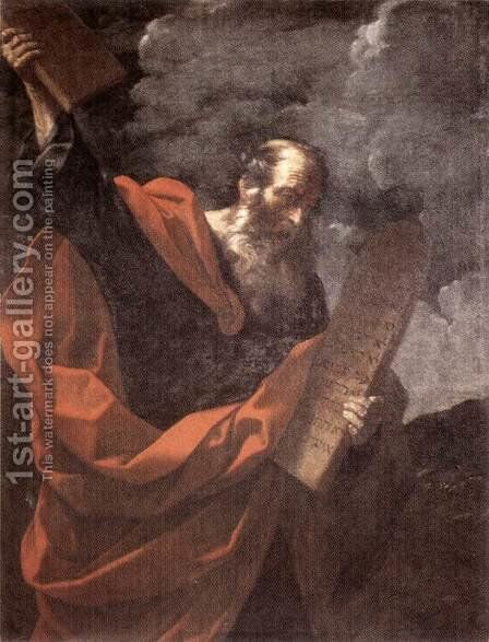 Moses 1600-10 by Guido Reni - Reproduction Oil Painting