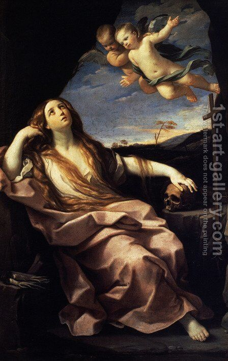 St Mary Magdalene 1633 by Guido Reni - Reproduction Oil Painting