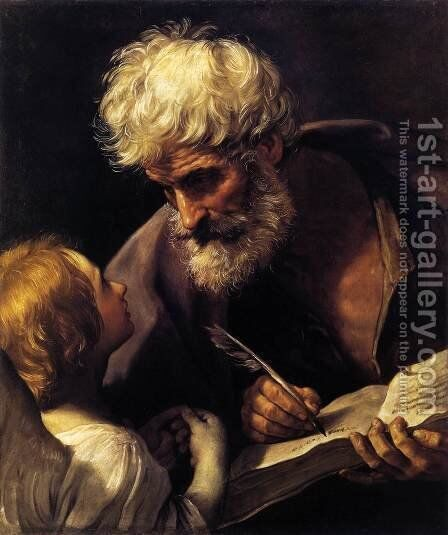 St Matthew and the Angel 1635-40 by Guido Reni - Reproduction Oil Painting
