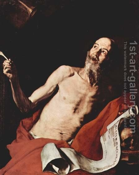 St Jerome 1637 by Jusepe de Ribera - Reproduction Oil Painting