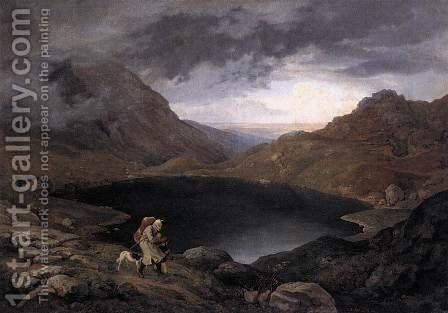 Pool in the Riesengebirge 1839 by Adrian Ludwig Richter - Reproduction Oil Painting