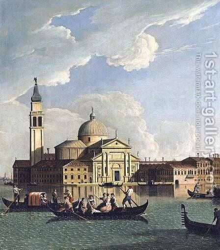 View of San Giorgio Maggiore, Venice by Johann Richter - Reproduction Oil Painting