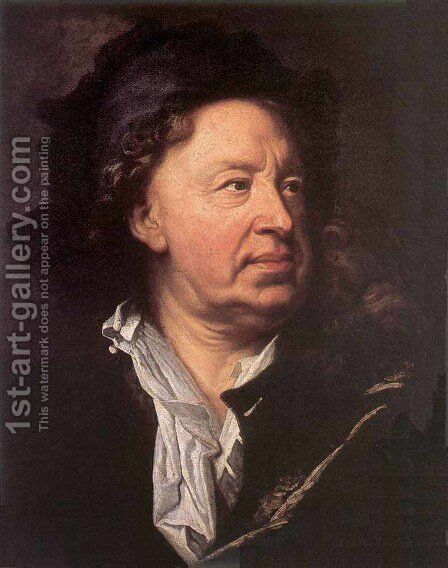 Everhard Jabach 1688 by Hyacinthe Rigaud - Reproduction Oil Painting