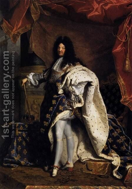 Portrait of Louis XIV 1701 by Hyacinthe Rigaud - Reproduction Oil Painting