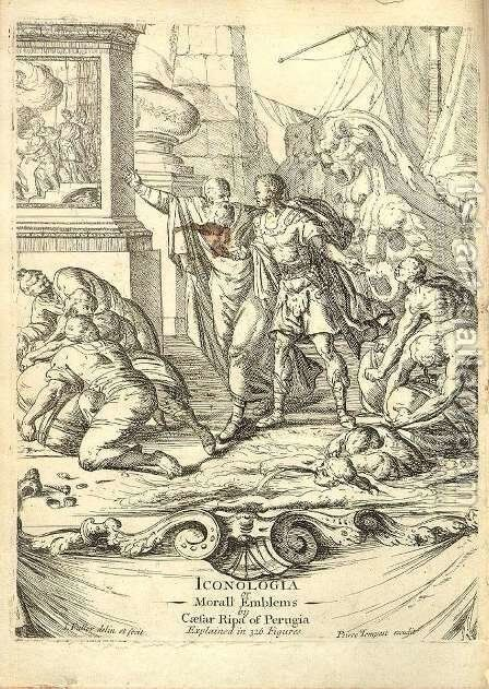 Title page of Icologia 1709 by Cesare Ripa - Reproduction Oil Painting