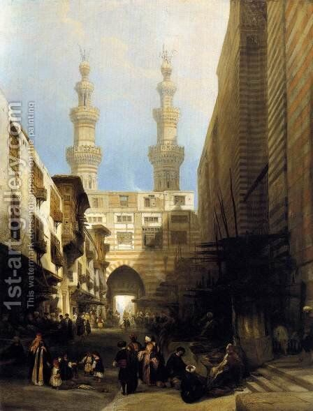 A View in Cairo 1840 by David Roberts - Reproduction Oil Painting