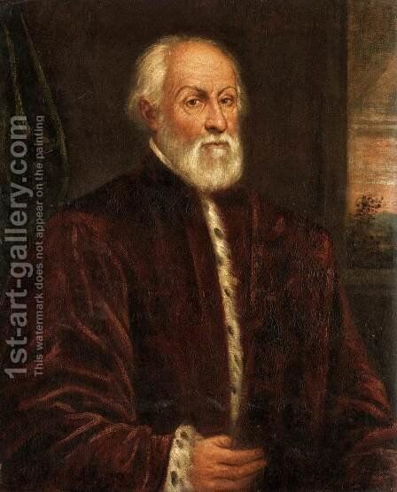 Portrait of a Gentleman by Domenico Tintoretto (Robusti) - Reproduction Oil Painting