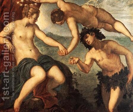 Ariadne, Venus and Bacchus 1576 by Jacopo Tintoretto (Robusti) - Reproduction Oil Painting