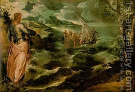 Christ at the Sea of Galilee c. 1575-80 by Jacopo Tintoretto (Robusti) - Reproduction Oil Painting