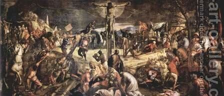 Crucifixion 1565 by Jacopo Tintoretto (Robusti) - Reproduction Oil Painting