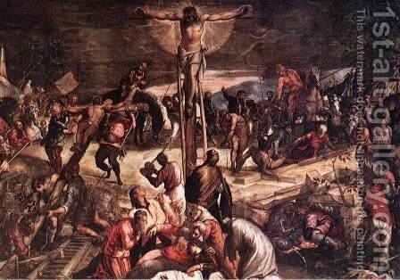 Crucifixion (detail) 1565 by Jacopo Tintoretto (Robusti) - Reproduction Oil Painting