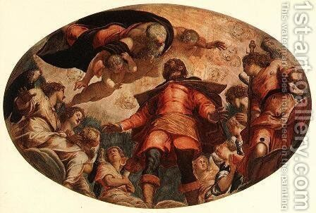 Glorification of St Roch 1564 by Jacopo Tintoretto (Robusti) - Reproduction Oil Painting