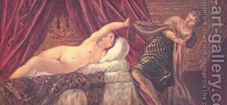 Joseph and Potiphar's Wife c. 1555 by Jacopo Tintoretto (Robusti) - Reproduction Oil Painting