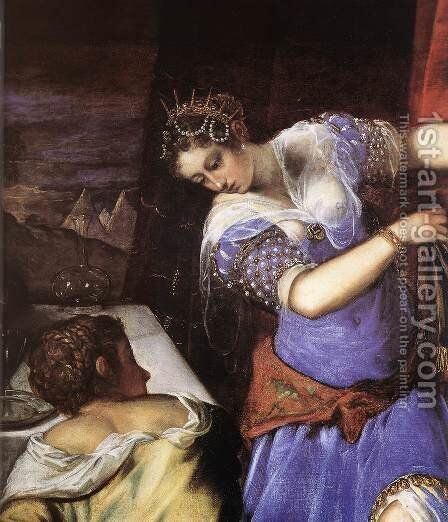 Judith and Holofernes (detail) c. 1579 by Jacopo Tintoretto (Robusti) - Reproduction Oil Painting