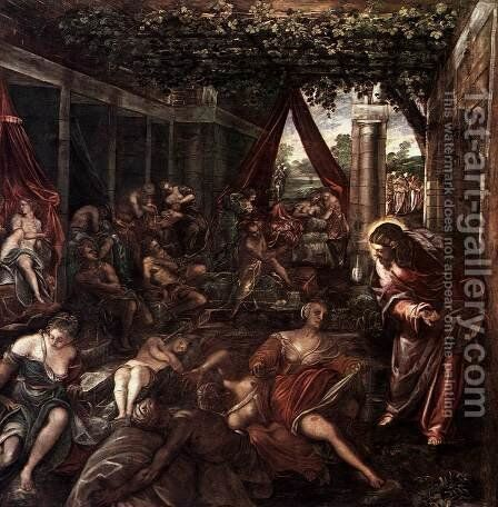 La Probatica Piscina 1578-81 by Jacopo Tintoretto (Robusti) - Reproduction Oil Painting