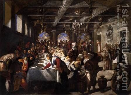 Marriage at Cana by Jacopo Tintoretto (Robusti) - Reproduction Oil Painting
