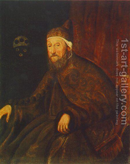 Portrait of Doge Pietro Loredano c. 1570 by Jacopo Tintoretto (Robusti) - Reproduction Oil Painting