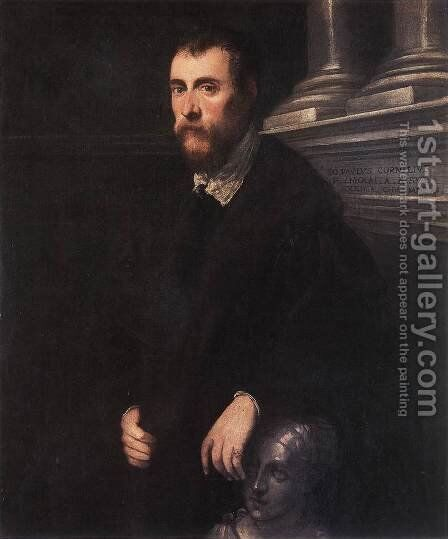 Portrait of Giovanni Paolo Cornaro 1561 by Jacopo Tintoretto (Robusti) - Reproduction Oil Painting