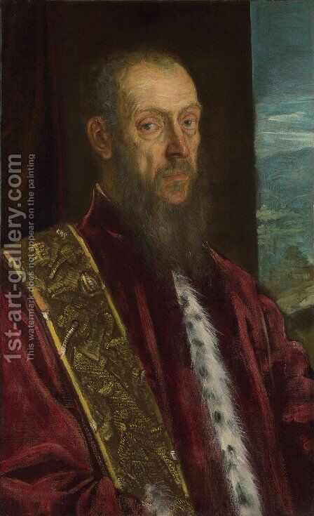 Portrait of Vincenzo Morosini c. 1580 by Jacopo Tintoretto (Robusti) - Reproduction Oil Painting