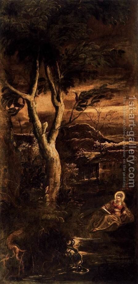St Mary Magdalen 1582-87 by Jacopo Tintoretto (Robusti) - Reproduction Oil Painting