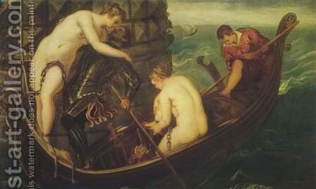 The Deliverance of Arsinoe c. 1560 by Jacopo Tintoretto (Robusti) - Reproduction Oil Painting