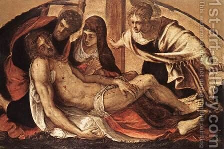 The Deposition 1563 by Jacopo Tintoretto (Robusti) - Reproduction Oil Painting