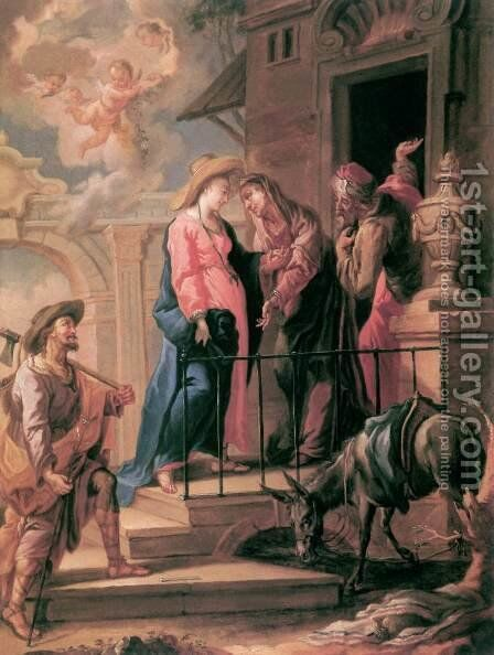 The Visitation by Jacopo Tintoretto (Robusti) - Reproduction Oil Painting