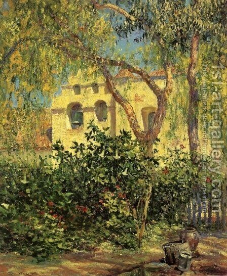 San Gabriel Mission by Guy Rose - Reproduction Oil Painting