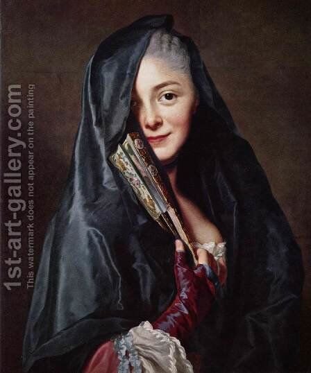 The Lady with the Veil (The Artist's Wife) 1768 by Guy Rose - Reproduction Oil Painting