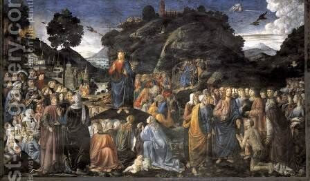 Tables of the Law with the Golden Calf 1481-82 by Cosimo Rosselli - Reproduction Oil Painting