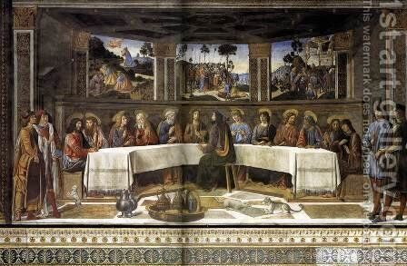 The Last Supper 1481-82 by Cosimo Rosselli - Reproduction Oil Painting