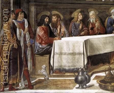 The Last Supper (detail-1) 1481-82 by Cosimo Rosselli - Reproduction Oil Painting