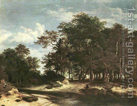 The Large Forest by Jacob Van Ruisdael - Reproduction Oil Painting