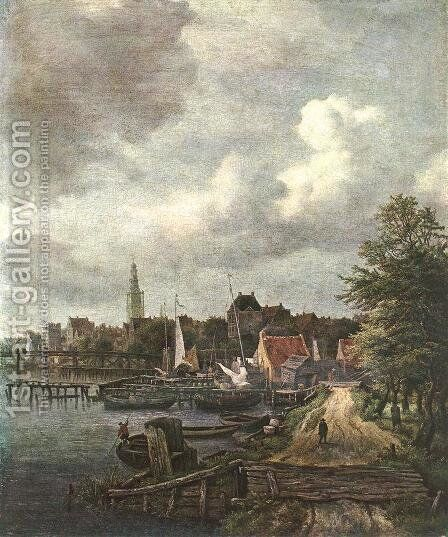 View of Amsterdam by Jacob Van Ruisdael - Reproduction Oil Painting
