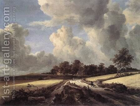 Wheat Fields 1670s by Jacob Van Ruisdael - Reproduction Oil Painting