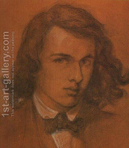 Self Portrait at Age Eighteen 1847 by Dante Gabriel Rossetti - Reproduction Oil Painting