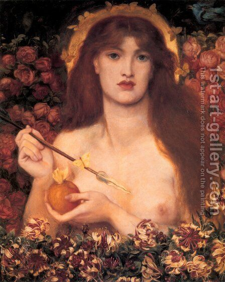 Venus Verticordia 1864-68 by Dante Gabriel Rossetti - Reproduction Oil Painting