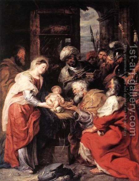 Adoration of the Magi 1626-29 by Rubens - Reproduction Oil Painting